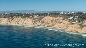 Aerial Photo of San Diego Scripps Coastal SMCA. Blacks Beach and Torrey Pines State Reserve. La Jolla, California, USA, natural history stock photograph, photo id 30629