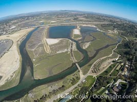 Aerial photo of San Dieguito Lagoon State Marine Conservation Area.  San Dieguito Lagoon State Marine Conservation Area (SMCA) is a marine protected area near Del Mar in San Diego County. Del Mar, California, USA, natural history stock photograph, photo id 30606