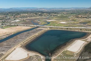 Aerial photo of San Dieguito Lagoon State Marine Conservation Area.  San Dieguito Lagoon State Marine Conservation Area (SMCA) is a marine protected area near Del Mar in San Diego County. Del Mar, California, USA, natural history stock photograph, photo id 30607