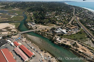 Aerial photo of San Dieguito Lagoon State Marine Conservation Area.  San Dieguito Lagoon State Marine Conservation Area (SMCA) is a marine protected area near Del Mar in San Diego County. Del Mar, California, USA, natural history stock photograph, photo id 30616