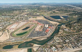 Aerial photo of San Dieguito Lagoon.  San Dieguito Lagoon State Marine Conservation Area (SMCA) is a marine protected area near Del Mar in San Diego County. Del Mar, California, USA, natural history stock photograph, photo id 30617