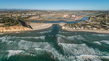 Aerial Photo of San Dieguito River and Dog Beach