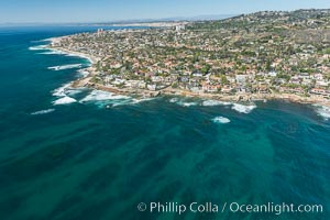 Aerial Photo of South La Jolla State Marine Reserve. La Jolla, California, USA, natural history stock photograph, photo id 30639