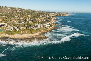 Aerial Photo of South La Jolla State Marine Reserve. La Jolla, California, USA, natural history stock photograph, photo id 30748