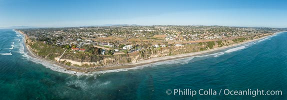 Aerial Photo of Swami's and Encinitas Coast. Encinitas, California, USA, natural history stock photograph, photo id 30781
