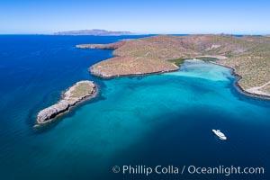 Aerial View near Playa Balandra and Lobera San Rafaelito, Sea of Cortez