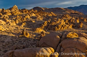 Alabama Hills, sunrise, Alabama Hills Recreational Area