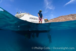 Ambar III anchored in El Embudo, Isla Partida, Sea of Cortez