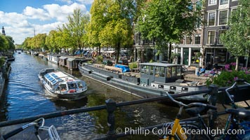 Amsterdam canals and quaint city scenery. Amsterdam, Holland, Netherlands, natural history stock photograph, photo id 29438
