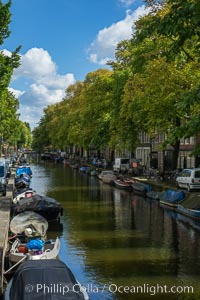Amsterdam canals and quaint city scenery. Amsterdam, Holland, Netherlands, natural history stock photograph, photo id 29440