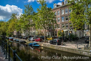 Amsterdam canals and quaint city scenery. Amsterdam, Holland, Netherlands, natural history stock photograph, photo id 29441