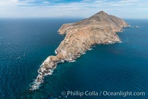 Anacapa Island, west end, aerial photo. Anacapa Island, California, USA, natural history stock photograph, photo id 29396
