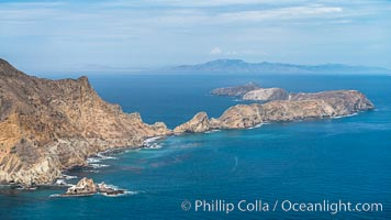 Anacapa Island, aerial photo. Anacapa Island, California, USA, natural history stock photograph, photo id 29397