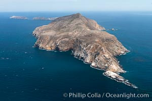 Anacapa Island, west end, aerial photo