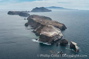 Anacapa Island, east end, aerial photo. Anacapa Island, California, USA, natural history stock photograph, photo id 29402