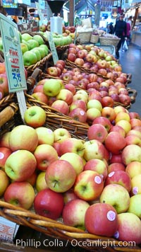 Apples for sale at the Public Market, Granville Island, Vancouver