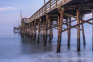 Balboa Pier, sunrise. Balboa Pier, Newport Beach, California, USA, natural history stock photograph, photo id 29136