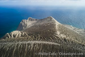 Barcena volcano crater, highest point on San Benedicto Island, Revillagigedos, Mexico. San Benedicto Island (Islas Revillagigedos), Baja California, Mexico, natural history stock photograph, photo id 32920