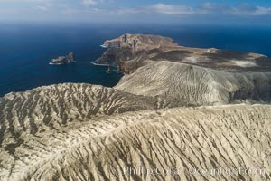 Barcena volcano crater, highest point on San Benedicto Island, Revillagigedos, Mexico. San Benedicto Island (Islas Revillagigedos), Baja California, Mexico, natural history stock photograph, photo id 32921