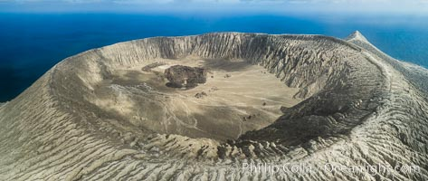 Barcena volcano crater, highest point on San Benedicto Island, Revillagigedos, Mexico. San Benedicto Island (Islas Revillagigedos), Baja California, Mexico, natural history stock photograph, photo id 32922