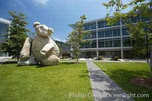 "Bear is another of the odd outdoor ""art"" pieces of the UCSD Stuart Collection.  Created by Tim Hawkinson in 2001 of eight large stones, it sits in the courtyard of the UCSD Jacobs School of Engineering, University of California, San Diego, La Jolla"