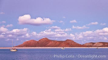 Beautiful Sea of Cortez sunset view, near La Paz, Baja California, Mexico