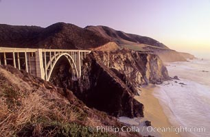 Highway 1 and Bixby bridge, Big Sur, California