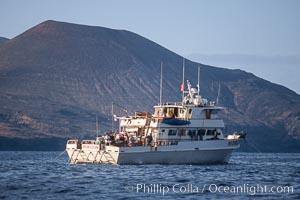 Boat Horizon near Red Cone. Guadalupe Island (Isla Guadalupe), Baja California, Mexico, natural history stock photograph, photo id 02381
