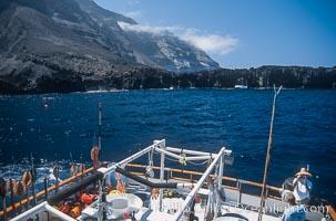 Boat Horizon at Arcos del Diablo, west side of Guadalupe Island, Guadalupe Island (Isla Guadalupe)