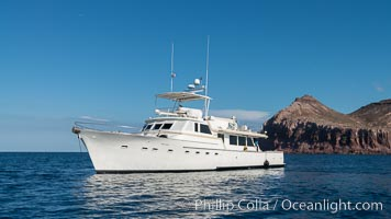 Boat M/V Ambar III at Isla Partida, Sea of Cortez, Mexico. Sea of Cortez, Baja California, Mexico, natural history stock photograph, photo id 31229