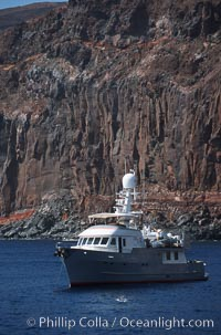 Boat Millenium Starship at Socorro Island, Revillagigedos
