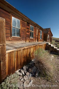 ,L.E. Bell House, front porch, Union Street and Park Street, Bodie State Historical Park, California