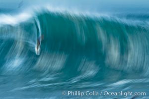 Breaking wave fast motion and blur. The Wedge, Newport Beach, California