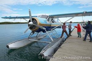 Waiting to board our float plane in King Salmon for the flight to Brooks Lake