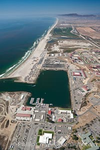 Camp Pendleton boat basin and coastline, viewed looking north. Marine Corps Base Camp Pendleton