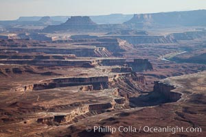 Canyonlands National Park view over Island in the Sky. Canyonlands National Park, Utah, USA, natural history stock photograph, photo id 27843