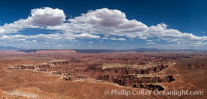 Canyonlands National Park panorama. Canyonlands National Park, Utah, USA, natural history stock photograph, photo id 27817