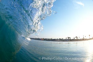 Cardiff morning surf, breaking wave. Cardiff by the Sea, California, USA, natural history stock photograph, photo id 23294