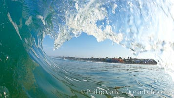 Cardiff morning surf, breaking wave. Cardiff by the Sea, California, USA, natural history stock photograph, photo id 23295