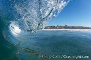 Cardiff surf, breaking wave, morning, Cardiff by the Sea, California
