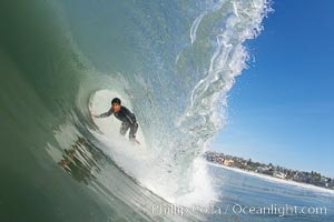 Mike Thomas, Cardiff, morning surf. Cardiff by the Sea, California, USA, natural history stock photograph, photo id 17877