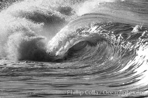 Carlsbad morning shorebreak, heaving little 6 tube., natural history stock photograph, photo id 17901
