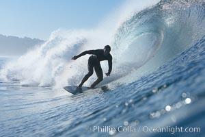 Ponto, South Carlsbad, morning surf. Ponto, Carlsbad, California, USA, natural history stock photograph, photo id 17717