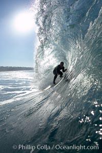 Carson Smith, Ponto, South Carlsbad, morning surf. Ponto, Carlsbad, California, USA, natural history stock photograph, photo id 17828