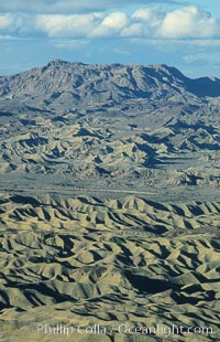 Carrizo Badlands viewed from Fonts Point, Anza-Borrego Desert State Park, Borrego Springs, California