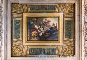 Ceiling detail, Musee du Louvre. Musee du Louvre, Paris, France, natural history stock photograph, photo id 28038