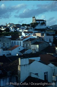 Chapel of Mae de Deus rises above Ponta Delgada, Sao Miguel Island