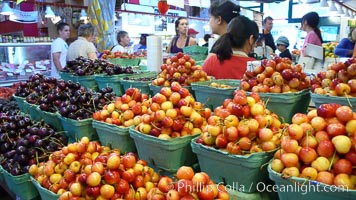Cherries for sale at the Public Market, Granville Island, Vancouver