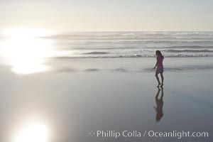 Child on the beach, Ponto, Carlsbad, California