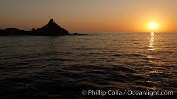 China Hat Point, Balanced Rock, San Clemente Island, sunrise
